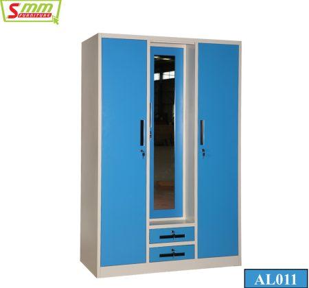 Three Door Almira with Drawer