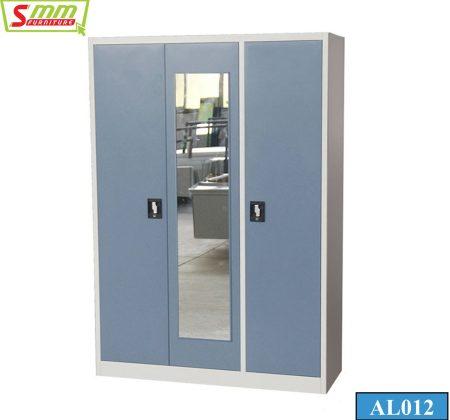 Three Door Steel Almira with Locker