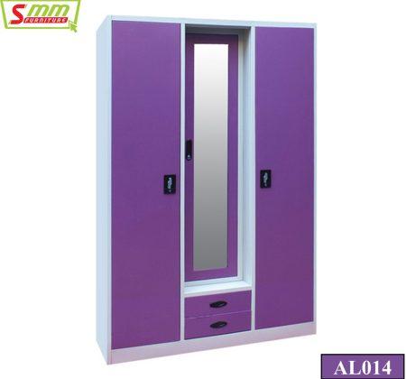 Three Door Almira with Locker & Drawer