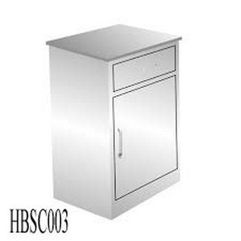 Hospital Bedside Cabinet With Drawer And Door (003)