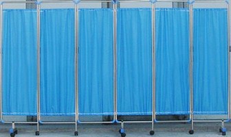 Durable Steel Frame 6 Folding Hospital Privacy Screens (006)