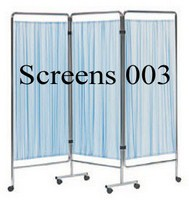 Durable Steel Frame 3 Folding Hospital Privacy Screens (003)