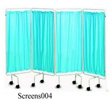Durable Steel Frame 4 Folding Hospital Privacy Screens (004)