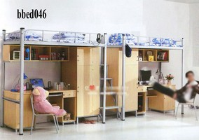 Bunk bed with desk & cabinet (046)