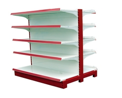 Double side gondola shelves for shop (007)