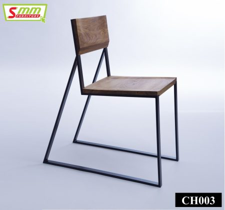 Simple Metal Chair with Board