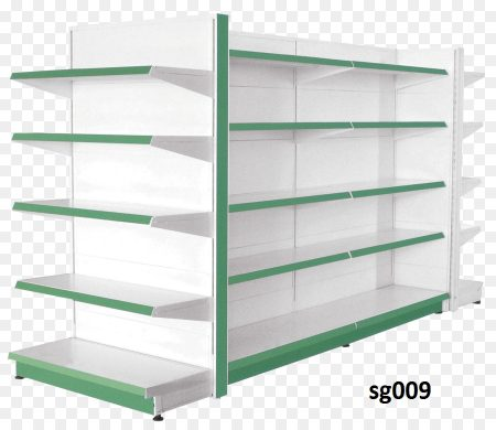 Double side gondola shelves for shop (009)