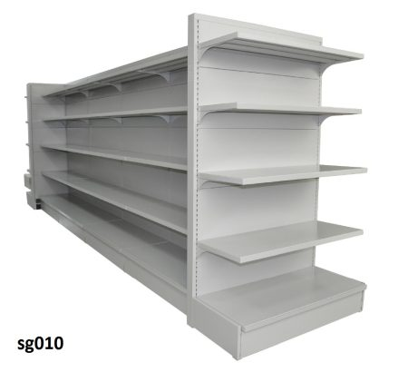 Double side gondola shelves for shop (010)