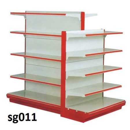 Double side gondola shelves for shop (011)
