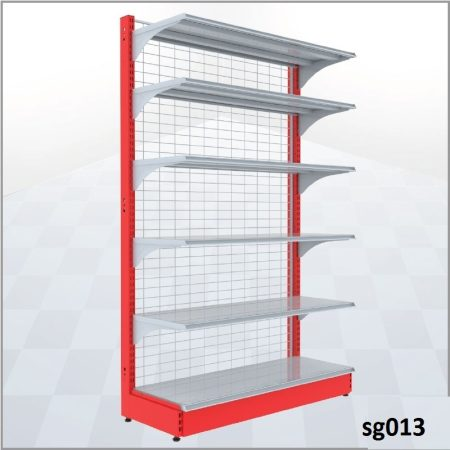 Double side gondola shelves for shop (013)