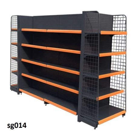 Double side gondola shelves for shop (014)