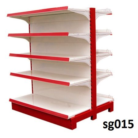Double side gondola shelves for shop (015)