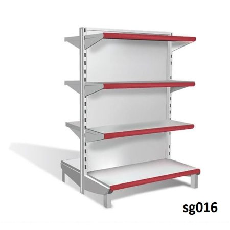 Double side gondola shelves for shop (016)