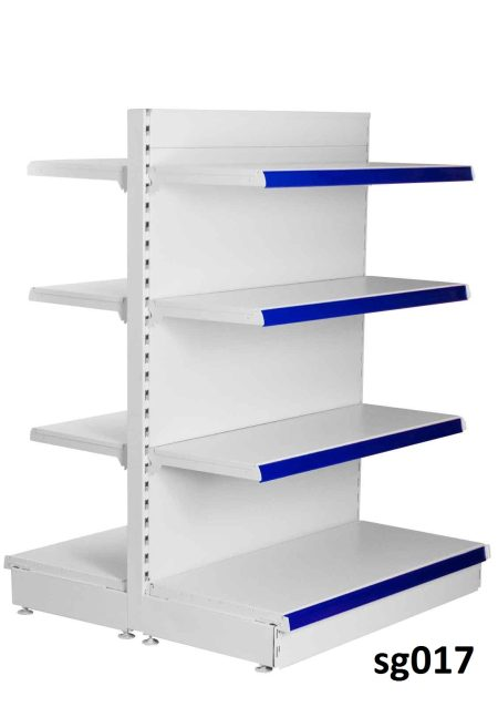 Double side gondola shelves for shop (017)