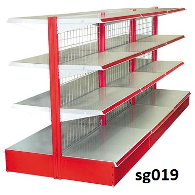 Double side gondola shelves for shop (019)