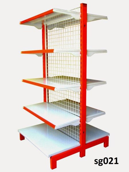 Double side gondola shelves for shop (021)