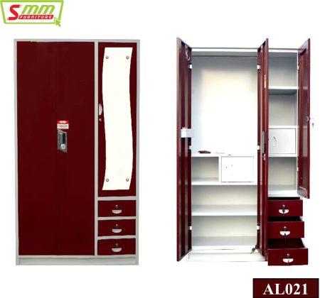 Three Almira with Locker & Shelf