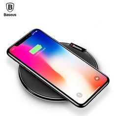 Baseus Wireless Charger Crystal, Compatible with iPhone X 8/8 Plus, Samsung Galaxy S8/Note 8/5/S7