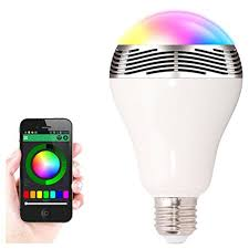 Wireless LED Bulb Bluetooth Smart Lighting Lamp Colorful Dimmable Speaker Lights Bulb