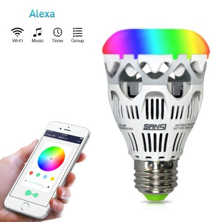 Smart LED light Bulb wifi-10W, Alexa/google home/smart Phones controlled light