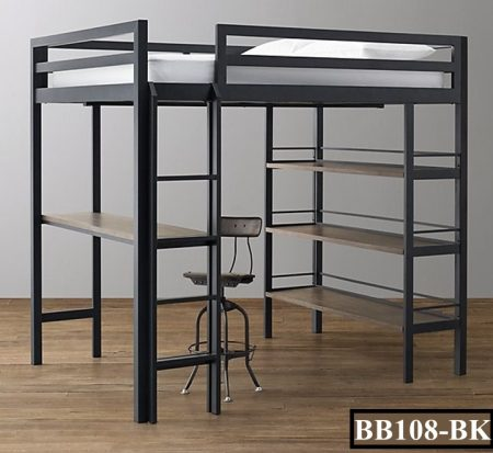 Bunk Bed With Desk & Shelf