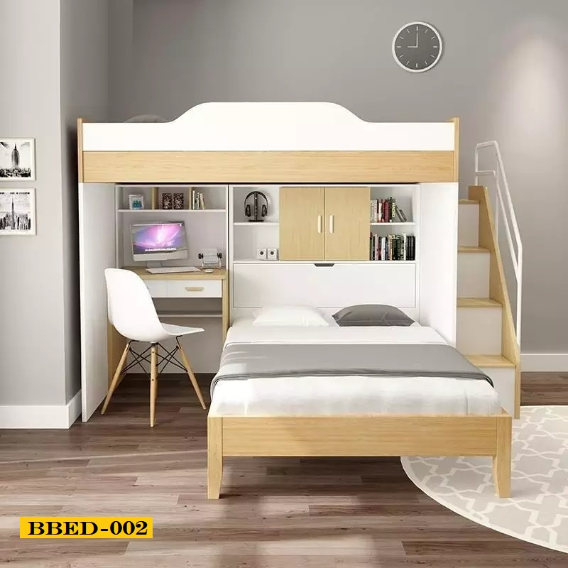Twin Over Full Bunk Bed With Desk 002
