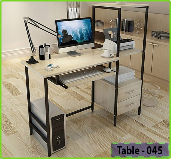 Reding table with shelf for home