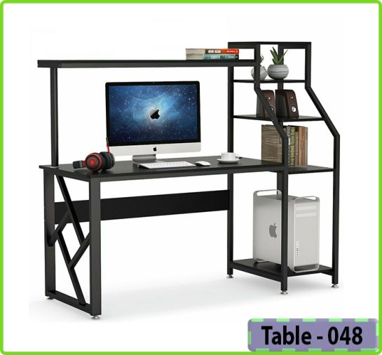 PC Desk with Bookshelf (T048)