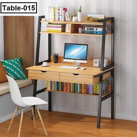 Computerized-Desktop-Household-Simple-And-Economical-Bedroom-Desk-And-Bookshelf-One-Simple-Student-Desk-And