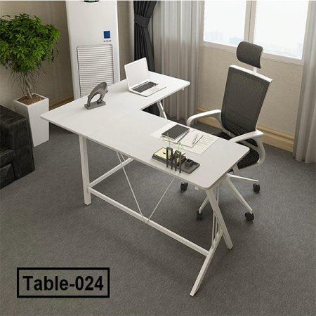 Corner-computer-desk-desktop-Steel-wood-desk-L-double-desk-The-corner-of-the-table