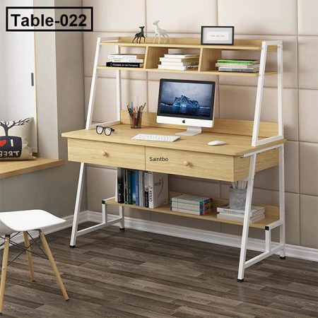 Desk-table-simple-and-modern-bedroom-household-simple-bookshelf-desk-combined-writing-desk-office-computer-table 3