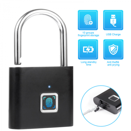Fingerprint Smart Portable Door Padlock