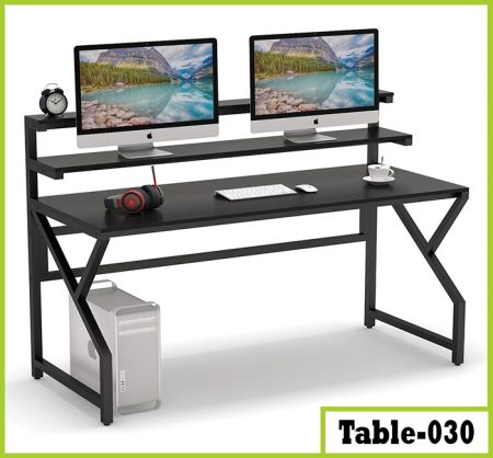 Computer Desk with Monitor Stand | Modern Office Desk