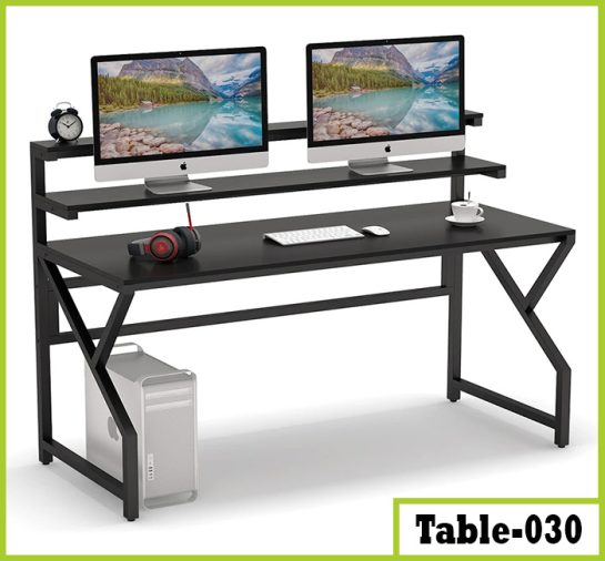 Computer Desk with Monitor Stand   Modern Office Desk