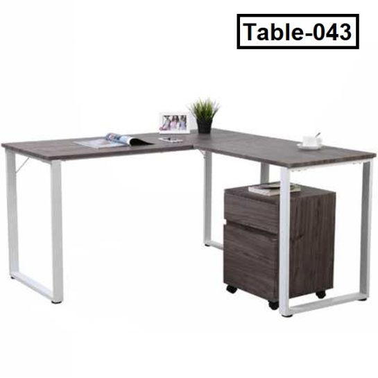 L shape computer table for home