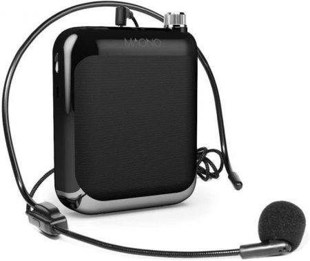 Portable Rechargeable Voice Amplifier With Microphone