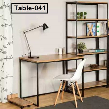 Reading table with bookshelf