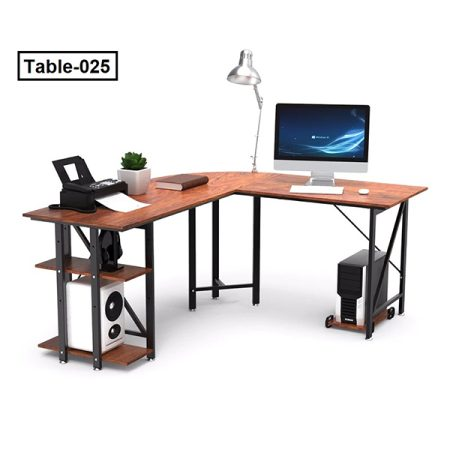 L Shaped Desk Corner Computer Desk PC Laptop Study Table Workstation Free Mainframe Stand For Working Studying Gaming Home Office