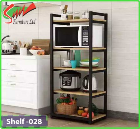 Board & Steel shelf for Kitchen