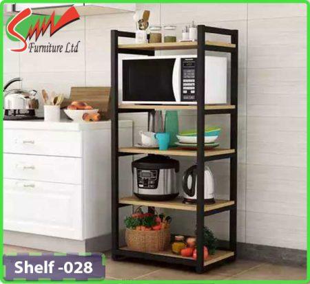 Board & Steel shelf for Kitchen