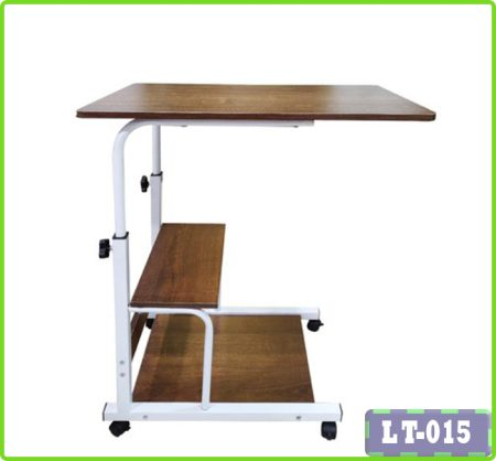 Height Adjustable Laptop Table With Bookshelf