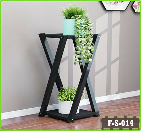 2 Tier Flower Pot Display Stand Telephone Table End Side Desk