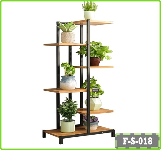 6 Tier Plant Stand Flower Rack Metal Outdoor Indoor Board Shelf Garden Display