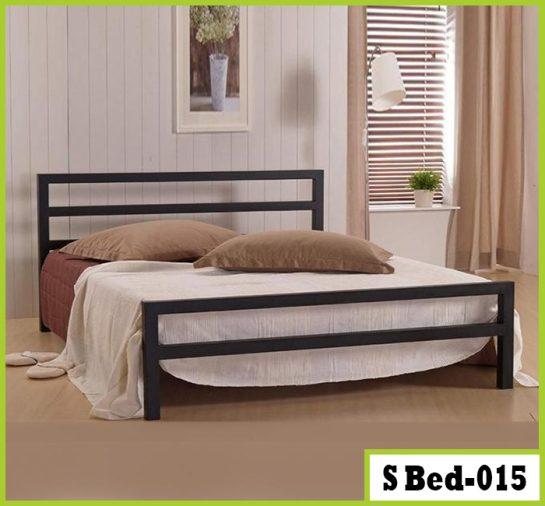 Simple Bedroom Double Size Steel Bed