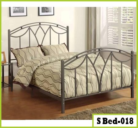 Simple Bedroom Double Size Steel Bed