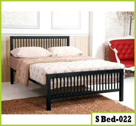 Double Iron Steel Metal Bed