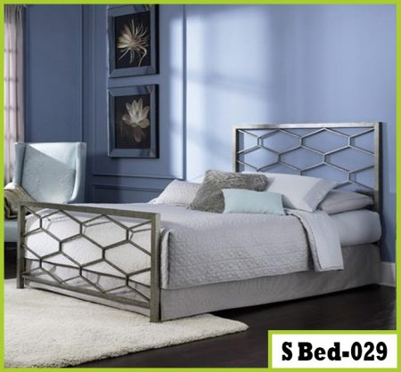 Sample Bedroom Double Steel Bed